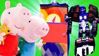 Видео с игрушками - Про трансформеров и Свинку Пеппу в будущем