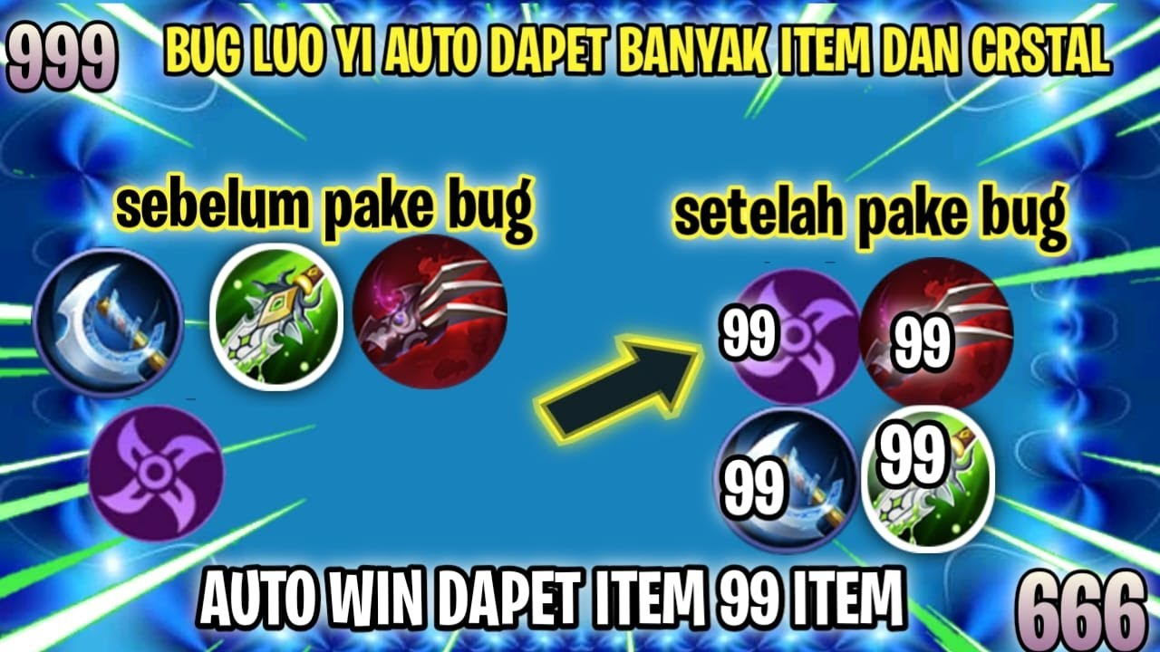 TUTORIAL VIRAL BUG LUO YI DAPET BANYAK  ITEM + CRYSTAL  MOONTON PLS FIX! | Magic Chess INDONESIA