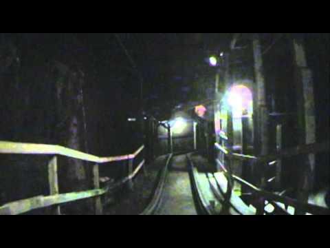 The Underground Wooden Roller Coaster Dark Ride Lights On