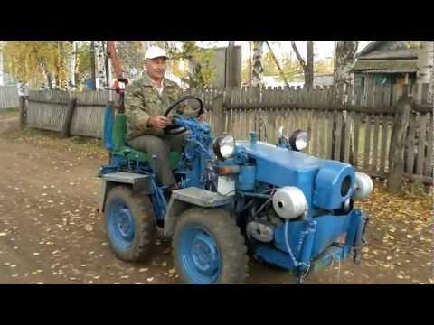 Смотреть онлайн самодельный трактор от Хакимовых