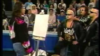 Bret Hart unveils his artwork and paints the Nasty Boys (WWF 1991)