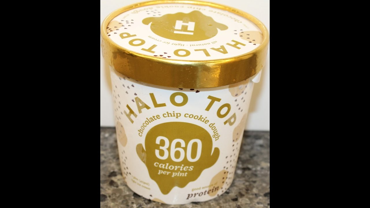 Halo Top Chocolate Chip Cookie Dough Ice Cream Review YouTube