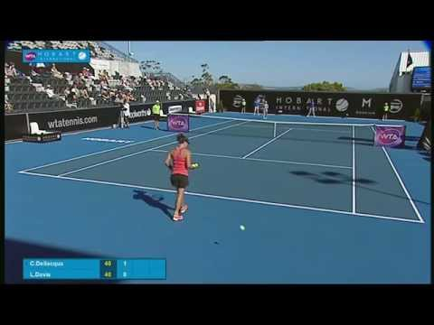 Casey Dellacqua v Lauren Davis: Full-match replay (1R) - Hobart International 2015