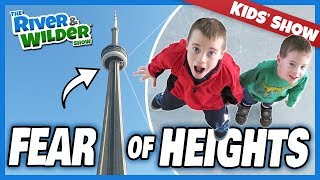 KIDS OVERCOME FEAR OF HEIGHTS 1000 FEET IN THE AIR