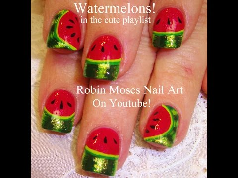 Easy Nail Art for Beginners - DIY Watermelon Design