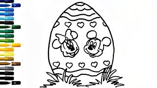 Surprise Egg for Kids Drawing Egg How to Draw And Paint Surprise Egg Coloring Book Fun Painting
