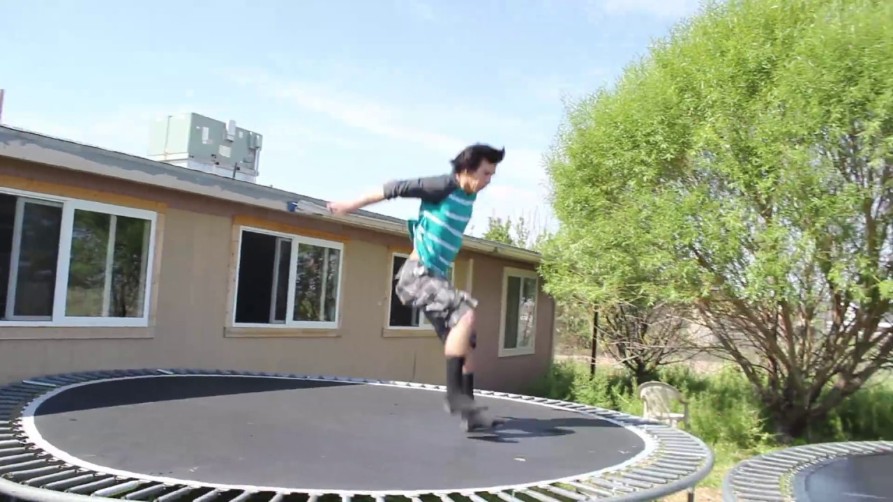 fun with 6 trampolines in backyard youtube