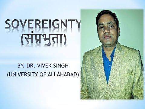 SOVEREIGNTY (SAMPRABHUTA) BY DR. VIVEK SINGH
