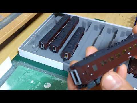 Nゲージ KATO SLやまぐち号 開封&パーツ取り付け N gauge KATO SL Yamaguchi opening breaking & parts installation