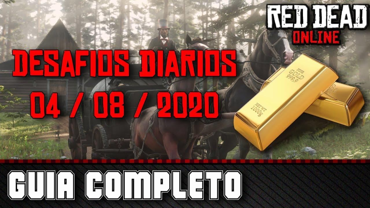 Desafios Diários - Red Dead Online 04/08/2020