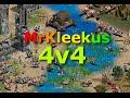 Age of Empires II - 4v4 | Black Forest - ONAGER SHOTS!