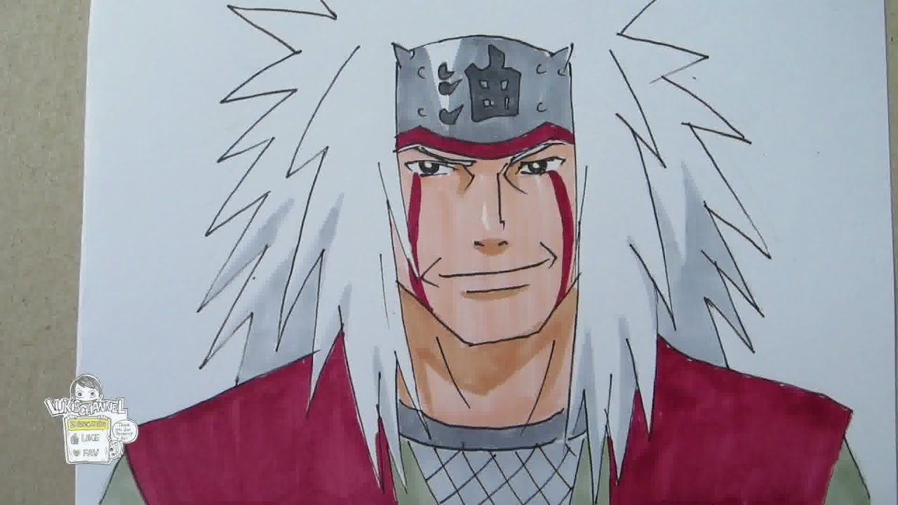 How to draw Jiraiya Legendary Sannin YouTube