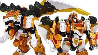 - DinoCore Evolution 2 Mega D Fighter Dragon Defeat dinosaur and save Robocar Poli DuDuPopTOY