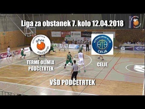 KK Podčetrtek : Terme Olimia - Celje Liga za obstanek 7. kolo 2018