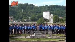 """MV """"Tiến quân ca"""" do 500 Đoàn viên thanh niên TP Lào Cai thể hiện"""