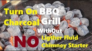 How To Light Charcoal Without Fluid or Chimney