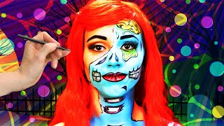 Very Cool Zombie Face Paint | SillyPop