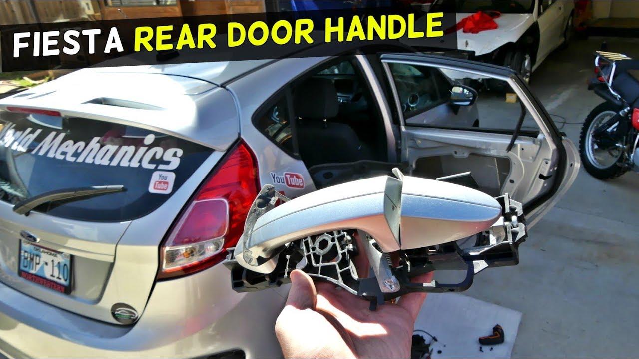 Ford Fiesta Broken Door Handle Mechanism Replacement Youtube