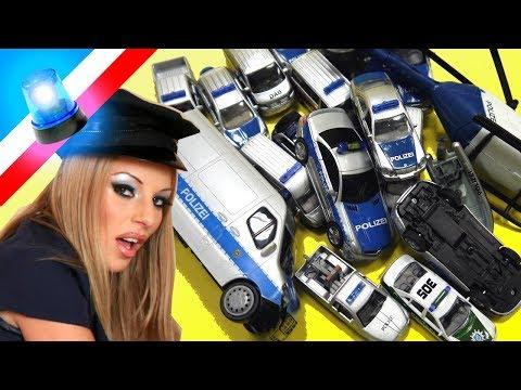 Polizeiauto Spielzeug Sammlung - Deutsche Polizeiautos