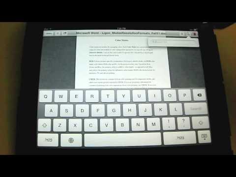 Opening a PDF in iBooks - An iPad Mini Tutorial