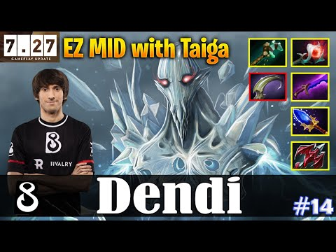 Dendi - Ancient Apparition   EZ MID with Taiga   7.27 Update Patch   Dota 2 Pro MMR Gameplay #14