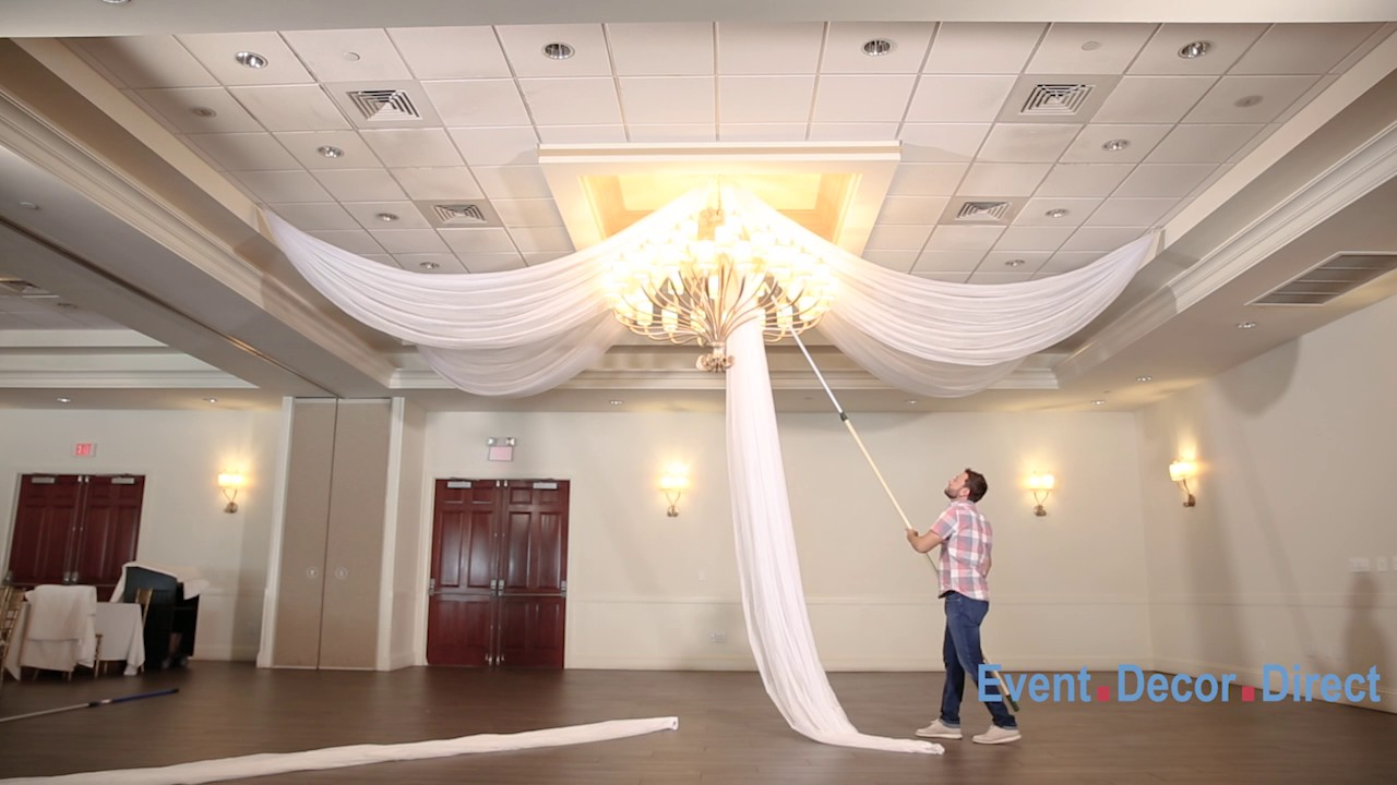 Prefabricated Ceiling Drape Kits Instructional Video - YouTube