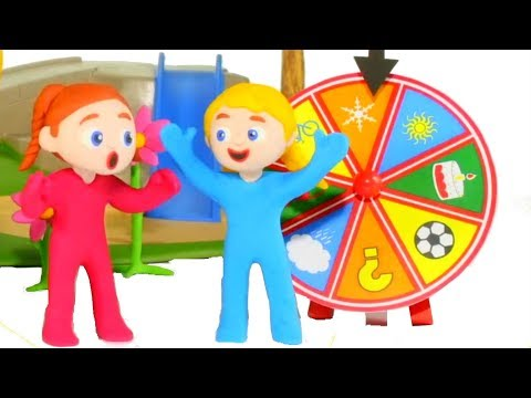 SUPERHERO BABIES AND THE WHEEL OF FORTUNE ❤ SUPERHERO BABIES PLAY DOH CARTOONS FOR KIDS