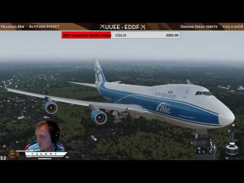 [P3D] Windshear on Final! | AirBridgeCargo 747 Go Around at Frankfurt am Main w/ VATSIM ATC