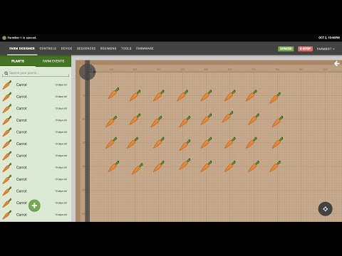 FarmBot Software: Farm Designer and Farm Events