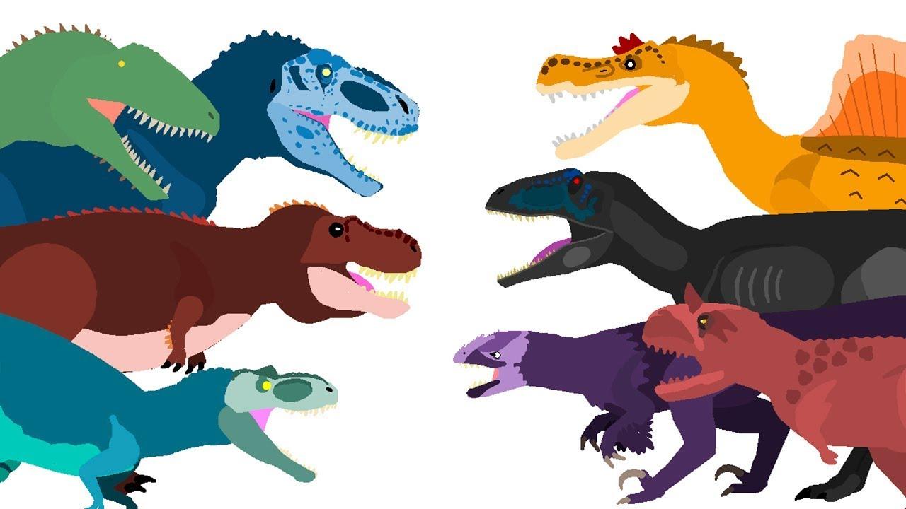 Dinossauros Desenho Animado Dinossauro Rex E Outros Dinosaurs
