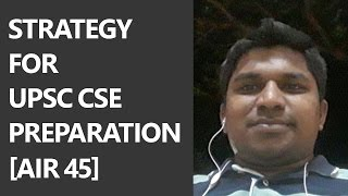 [AIR 45] Strategy for UPSC CSE/IAS Preparation by Jeyaseelan IAS