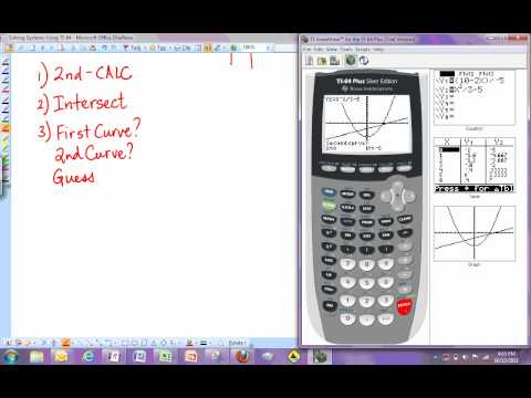 TI-84 - Solving Systems Of Equations