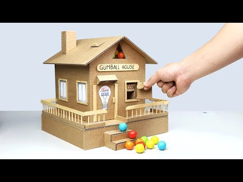 Thumbnail: How to Make Gumball House Vending Machine from Cardboard