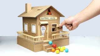 How to Make Gumball House Vending Machine from Cardboard