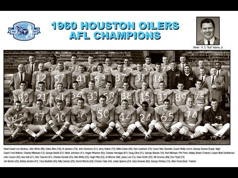 1960 Houston Oilers AFL Championship Season Highlight