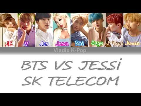 [SK Telecom(텔레콤)  BTS( 방탄소년단) VS Jessi [Color Coded Han/Rom/Eng Lyrics]