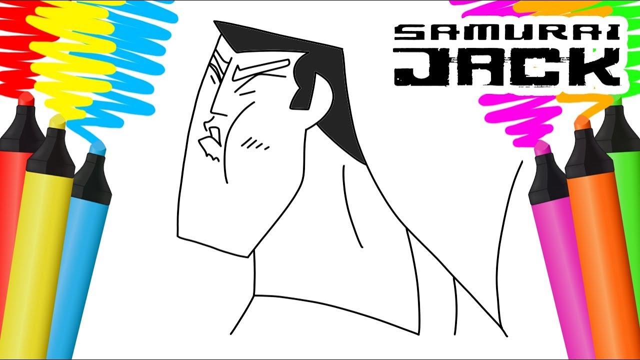 Colorir Samurai Jack Desenho Para Pintar Youtube