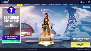 Fortnite Pop Up Cup Solo Livestream