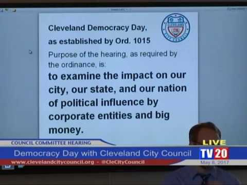 Cleveland Democracy Day Hearing: May 8th, 2017