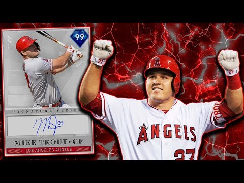 *99* MIKE TROUT DEBUT! BEST CF IN THE GAME! MLB THE SHOW 19 RANKED SEASONS DIAMOND DYNASTY