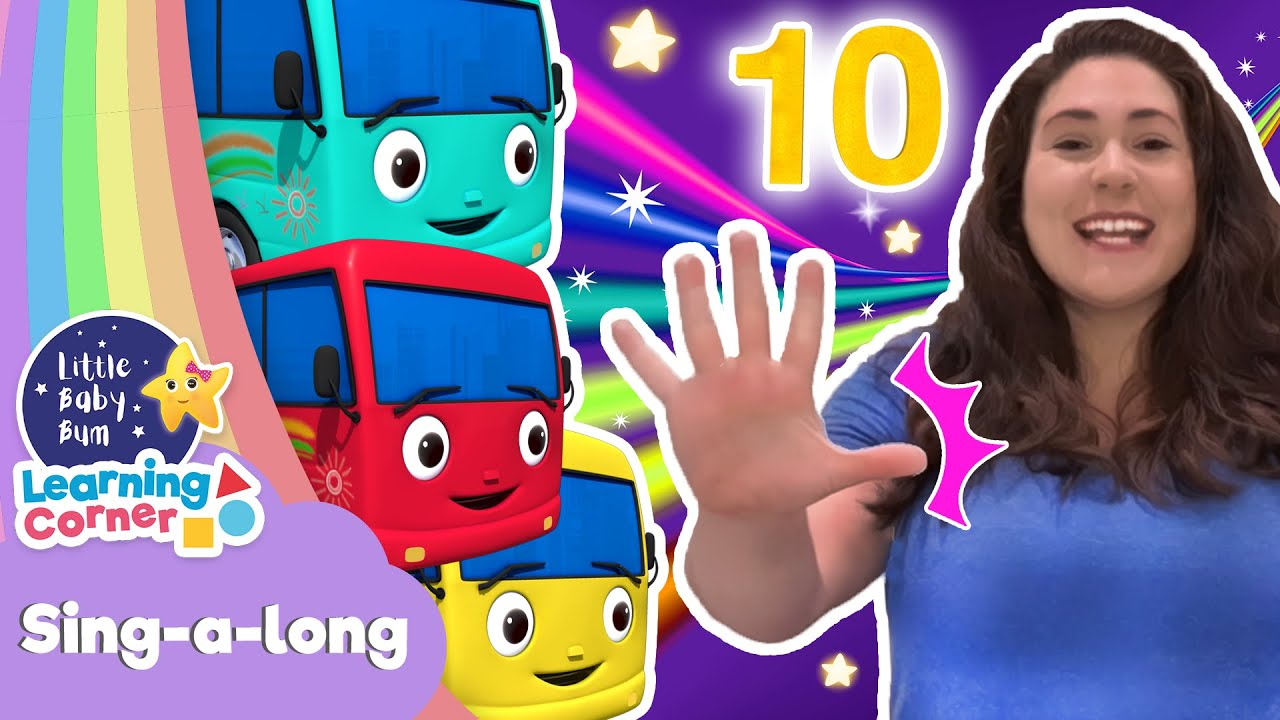 Count 10 Little Buses  Singing | Sing ALong Corner | Learning Videos For Kids | Homeschool Cartoons