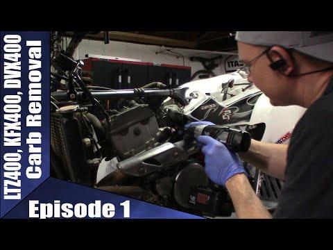 LTZ400, KFX400, DVX400 Carb Removal Episode 1