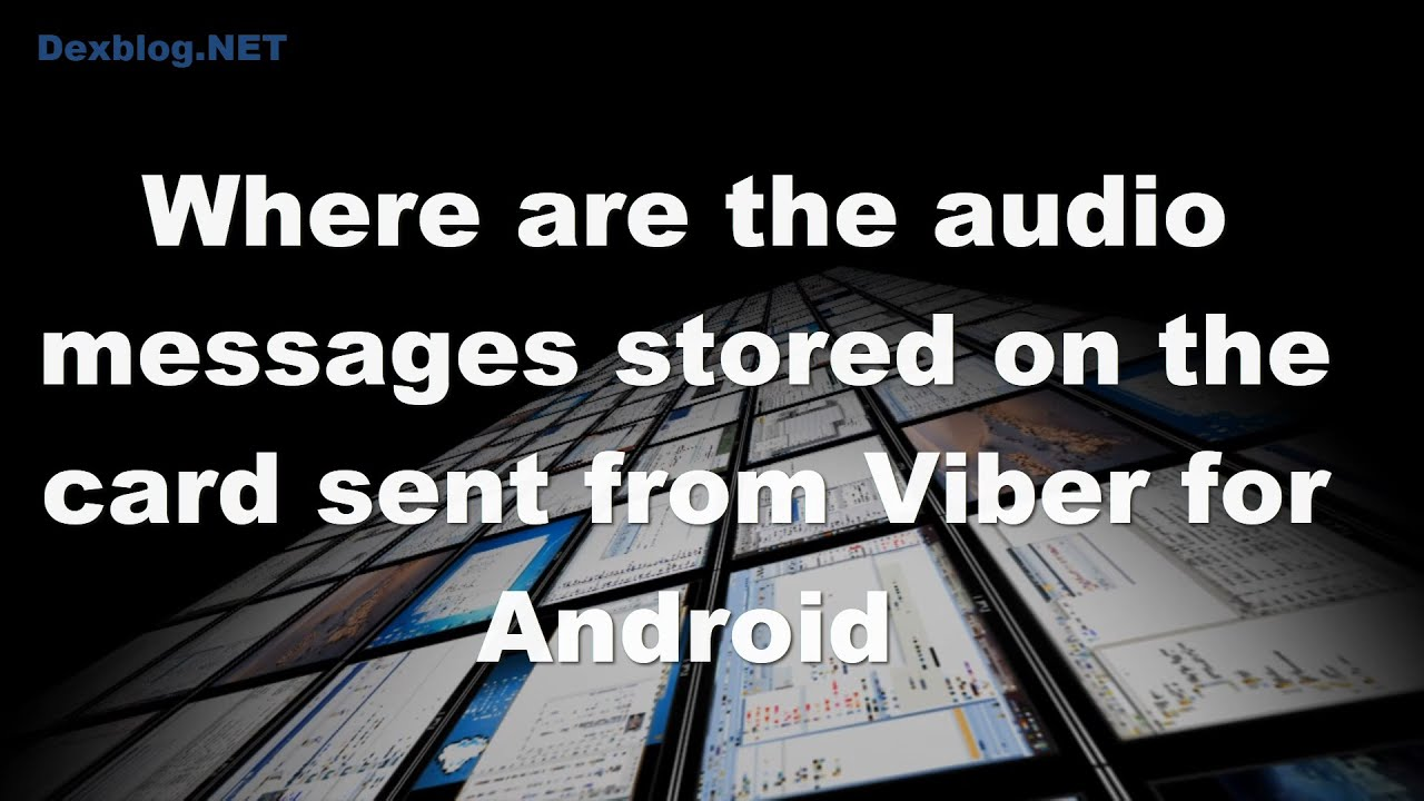 Where are the audio messages stored on the card sent from Viber for Android