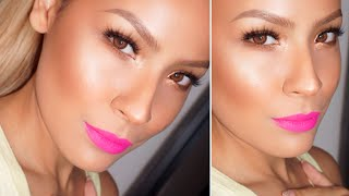 GRWM (TALK THROUGH) : Simple eye/ Dewy Skin/ Bright Lips Thumbnail