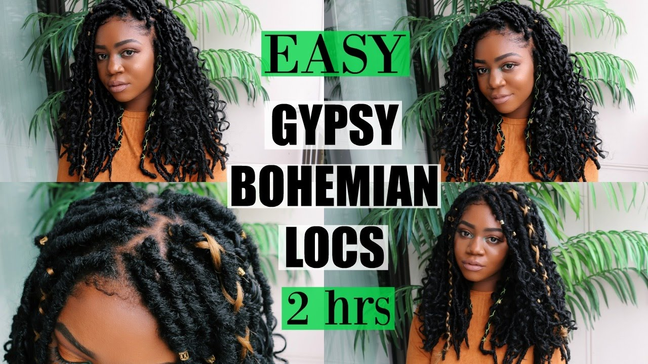 New Gypsy Bohemian Locs Quick Easy Only 2 Hours Carefree