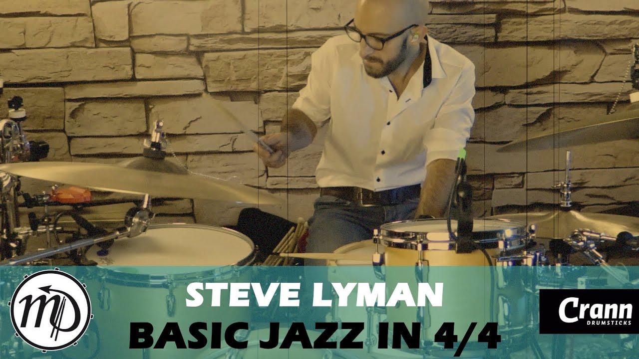 Steve Lyman - Basic Jazz 4/4 - Drum Cover Drumeo (Jazz)