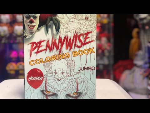 IT MOVIE Pennywise the clown coloring book review 🎈🎈🎈🎈🎈