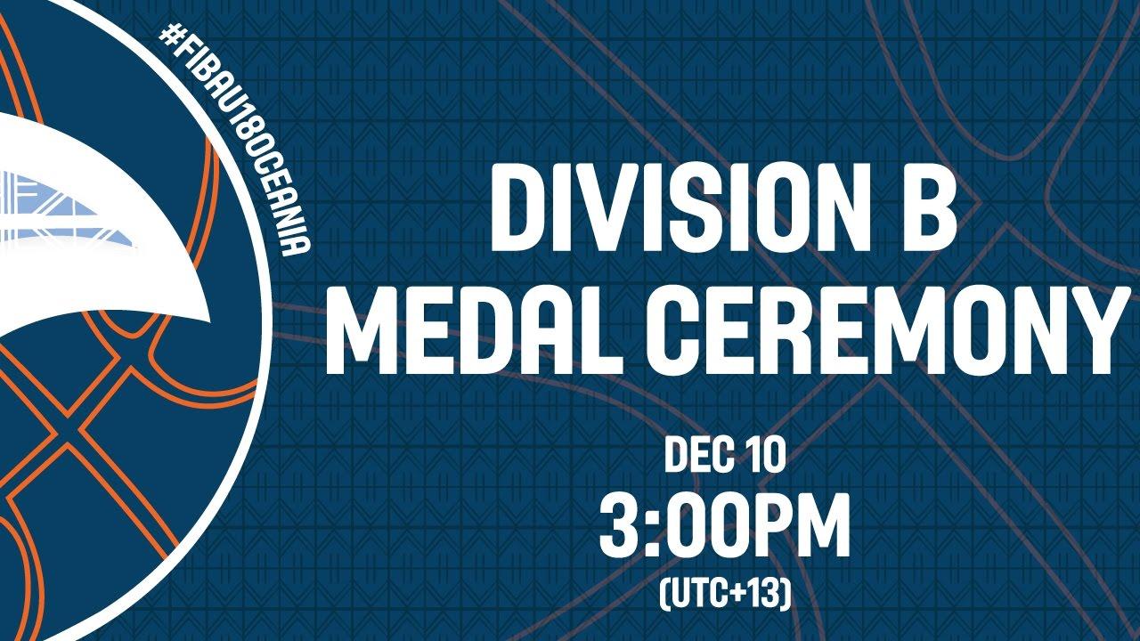 FIBA U18 Oceania Championships - Division B Medal Ceremony