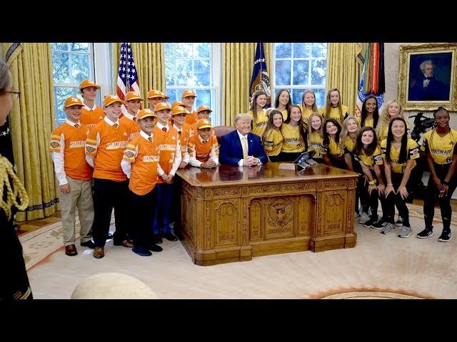 President Trump Welcomes The Little League World Series Champions ⚾️🏆