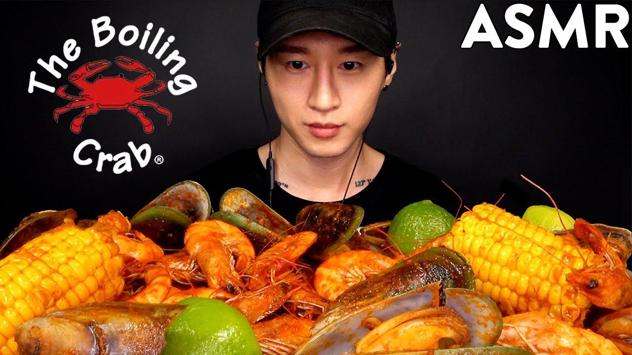 Download ASMR SEAFOOD BOIL MUKBANG (Shrimp, Mussels & Corn) No Talking | EATING SOUNDS | Zach Choi ASMR